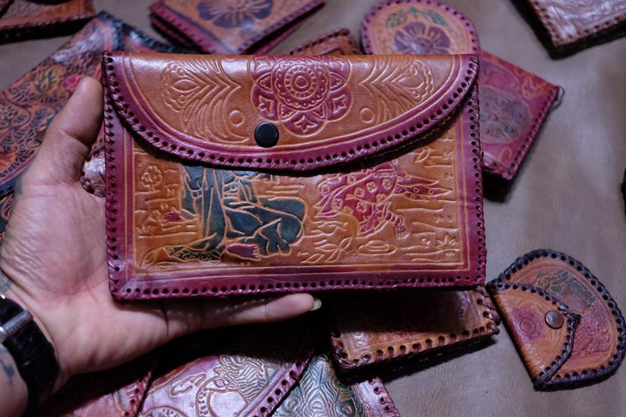 Ví da handmade Ấn Độ