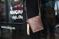 Túi da nữ đeo chéo
